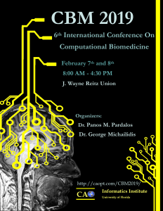 6th International Conference on Computational Biomedicine flyer