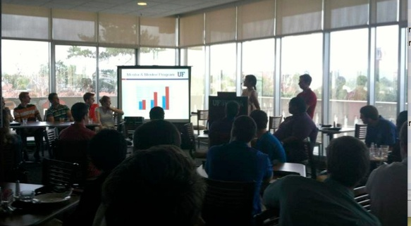 The IIE chapter views a presentation