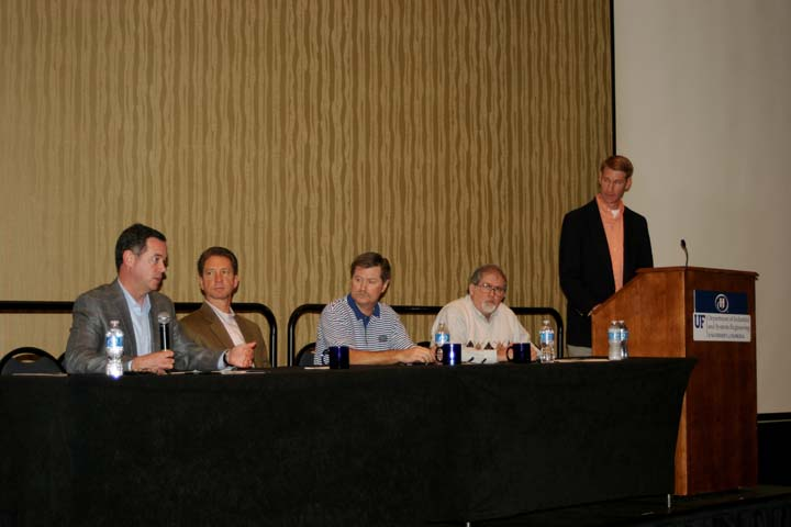 The Advisory Board panel answers student questions