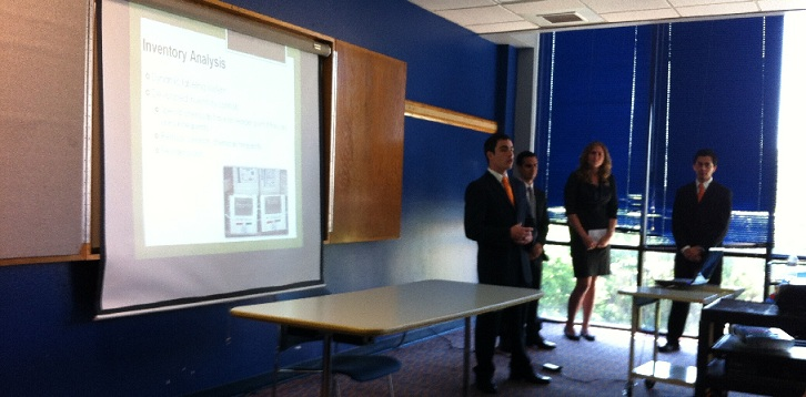ISE students deliver a senior design presentation