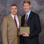 Dr. Joseph Hartman receives an award with Dr. G. Don Taylor of Virginia Tech