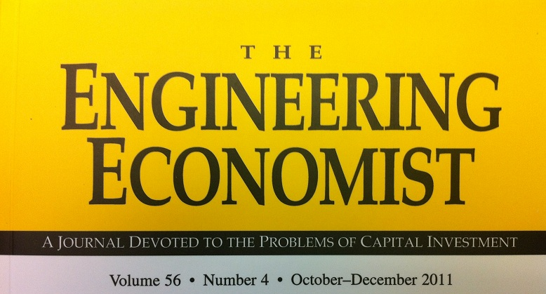 The Engineering Economis journal cover
