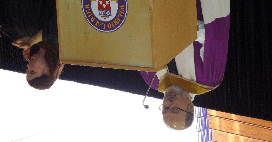 Dr. Panos Pardalos addresses the convocation