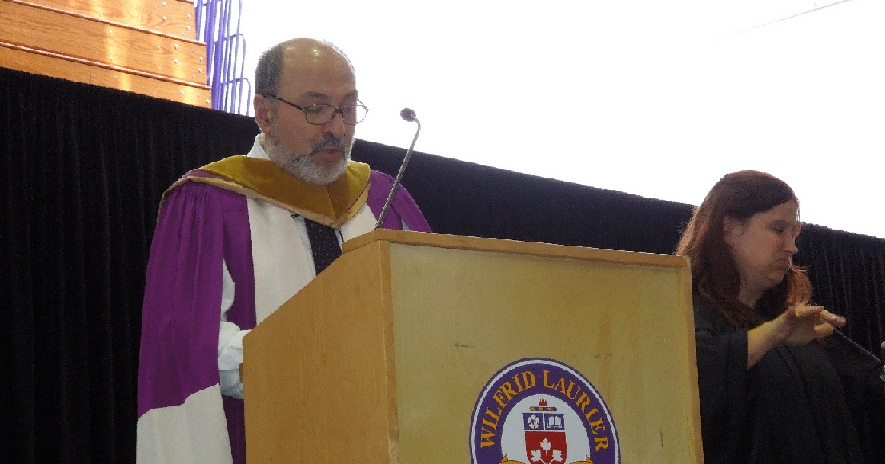 Dr. Panos Pardalos addresses the convocation