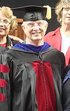 Dr. Capehart in academic regalia