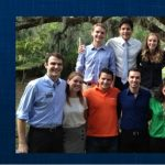 UF IIE student group photo, superimposed over the IIE logo
