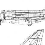 Blueprint for a fighter jet