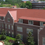 Aerial photo of weil hall