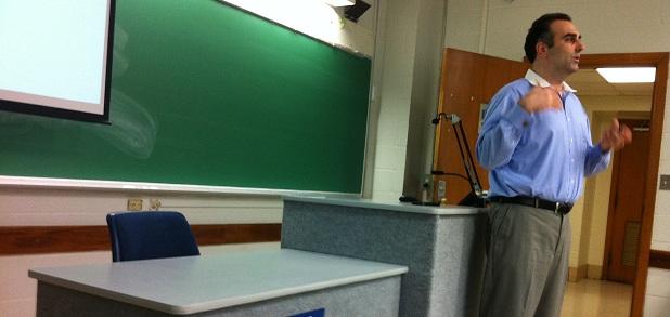 Dan Boccabella delivers a lecture