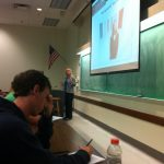 Trudy Daniels delivers a lecture to students