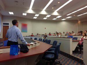 Scott Ellyson delivers a lecture