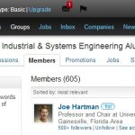 Screenshot of UF ISE LinkedIn page