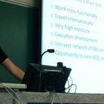 Jo Smith delivers a lecture