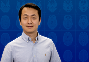 Hongcheng Liu profile picture, superimposed over brain scans