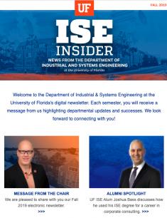 ISE Insider: Fall 2019