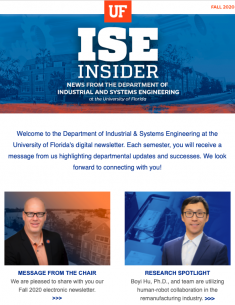 ISE Insider: Fall 2020