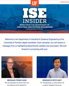 ISE Insider: Spring 2019